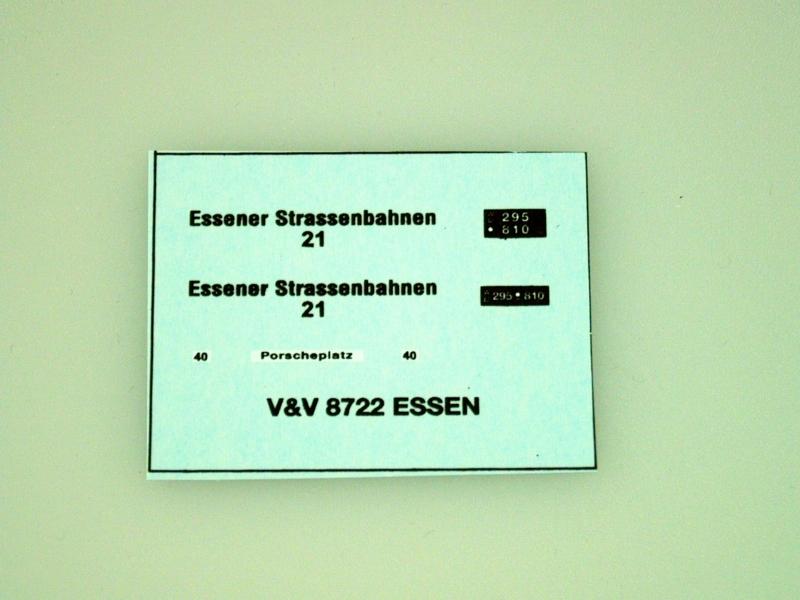 8722 Essener Strassenbahnen 1:87