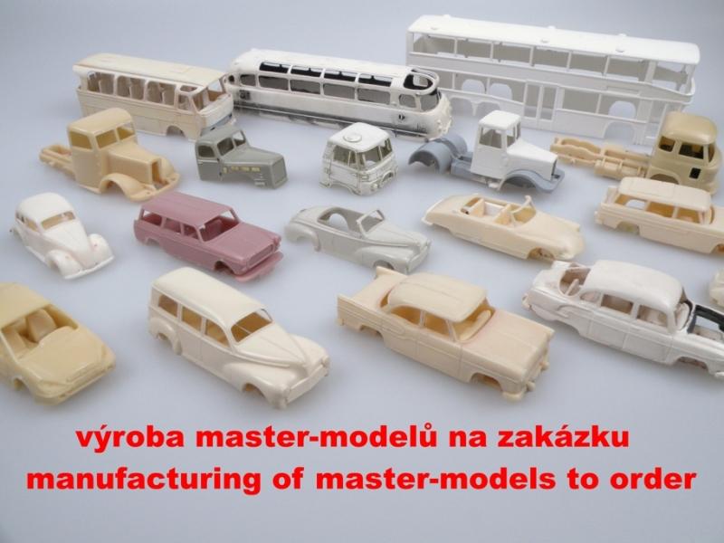 výroba master-modelů na zakázku. Pouze pro firmy.