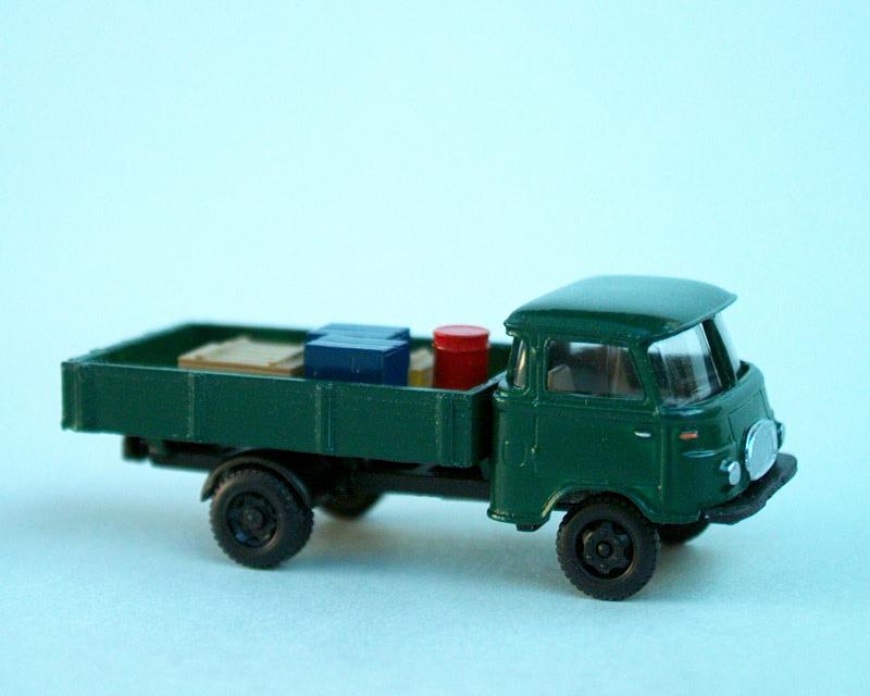 1961 Robur Lo2500 valník/Pritsche/flat bed truck (dark greeen)