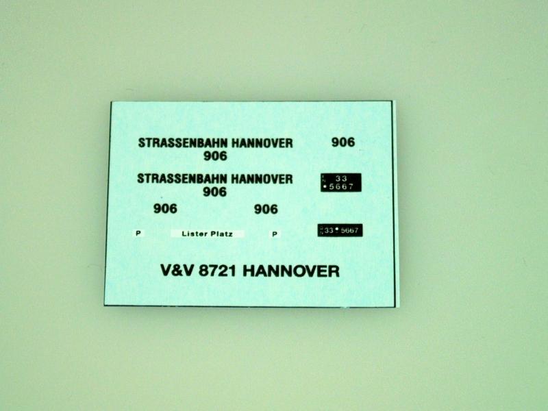 8721 Strassenbahn Hannover 1:87