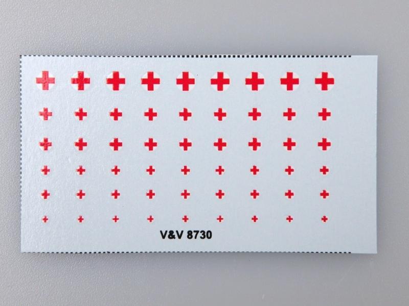 8730 Červený kříž II. 1:87 obtisky