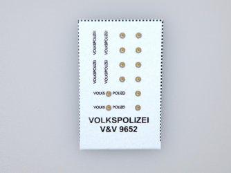 9652 Volkspolizei 1:120 (TT) obtisky