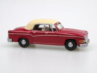 1958 H 240 Sachsenring II. Cabrio closed (wine red/ivory)