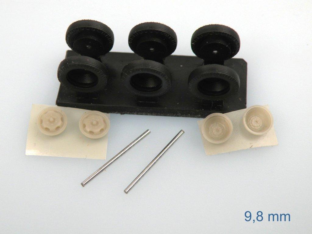disková kola 9,8 mm